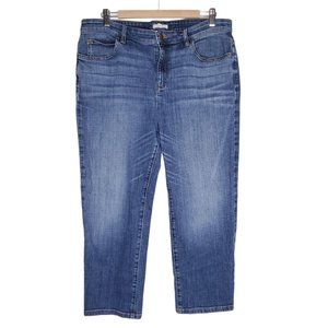 Eileen Fisher Organic Cotton Straight Leg Jeans 14